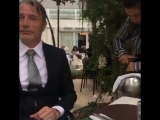 VIDEO Mads have a good time with his wife Hanne and his manager Ulrich. via HanneMJ IG Mad