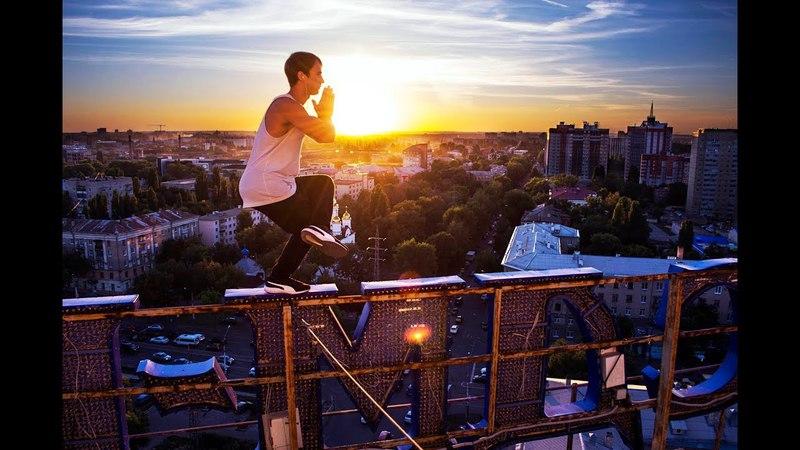Sasha Trineev экстремальный руфинг акробика и паркур