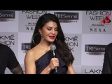Jacqueline Fernandez Interview At Lakme Fashion Week 2018