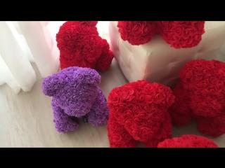 Мишки из роз | ручная работа
