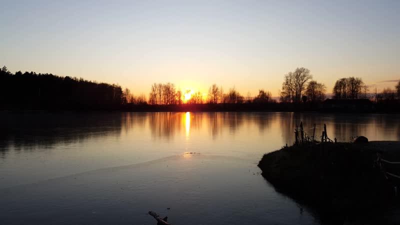 Закат на озере Гидра г.Раменское, Подмосковье ,Жуковский