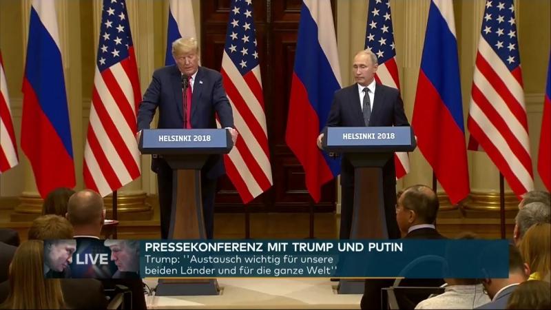 ERGEBNISSE VON HELSINKI_ Pressekonferenz von Trump und Putin