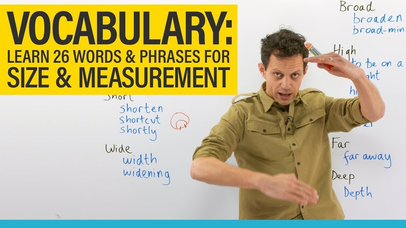 IMPROVE YOUR VOCABULARY length, long, short, wide, broad, high, height...
