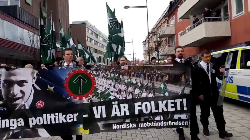Nordic Resistance Movement Marches in Sweden (May 1st, 2018)