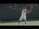 Урок тенниса. Удар справа в замедленном повторе