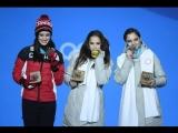 Алина Загитова и Евгения Медведева Произвольная программа Олимпийские игры-2018.
