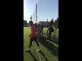 Тренировка перед матчем с «Динамо»