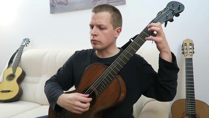 Fernando Sor 24 studies op 35 No 24 Allegro moderato authentic J G Stauffer guitar