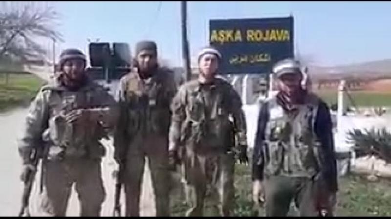 Terör örgütü YPGPKKdan kurtarılan İşkan Garbi köyü.. 1.Tümen içerisinde savaşan Türkmen yiğitleri köyün alındığını duyurdular.