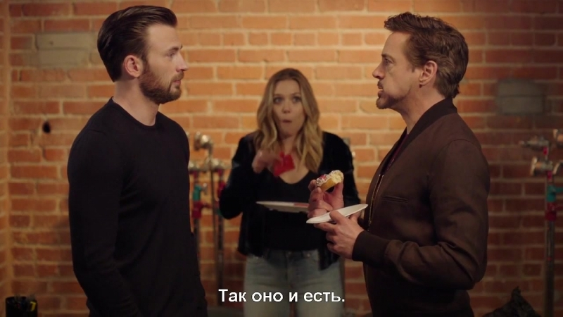 Капитан Америка, Железный человек и Алая ведьма- Последний пончик (с субтитрами) HD