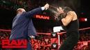 Paul Heyman and Brock Lesnar ambush Roman Reigns Raw Aug 13 2018