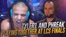 TYLER1 and PHREAK playing together at LCS Finals! - LCS Finals Streamer Showmatch 2018 Highlights