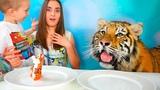 Обычная Еда против Мармелада Челлендж! Мама ПЛАЧЕТ! Real Food vs Gummy Food - Challenge
