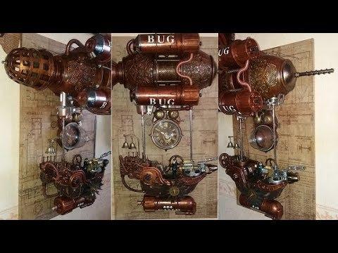 Часы steampunk Прогулочный катер 404 ВUG (Жучок).