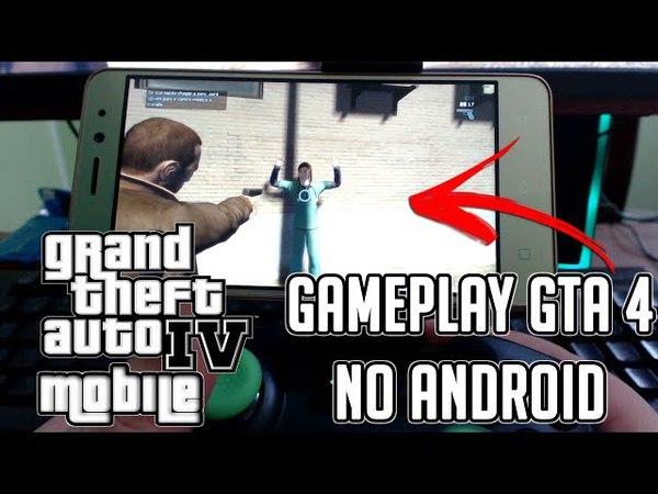 FINALMENTE GTA 4 MOBILE NO ANDROID GAMEPLAY JOGANDO NO MOONLIGHT (PC ESPELHADO NO ANDROID)