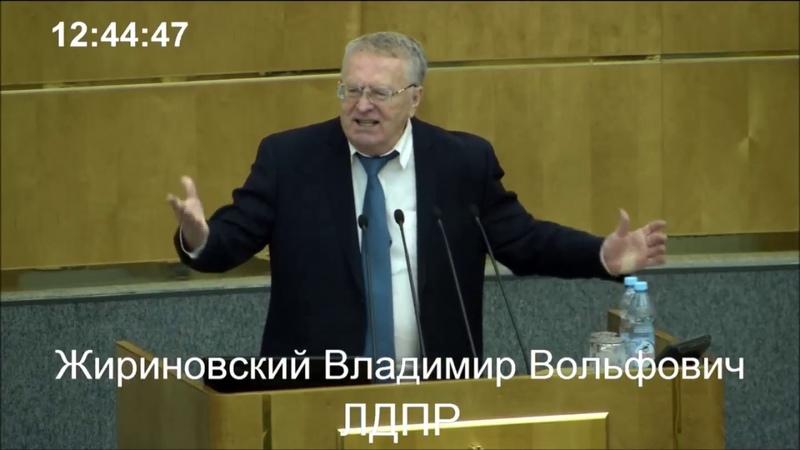 Жириновский--Во всём виноваты коммунисты и демократы!