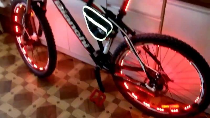КАК СДЕЛАТЬ RGB ПОДСВЕТКУ КОЛЕС ВЕЛОСИПЕДА. Вело тюнинг - Тюнинг велосипеда