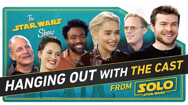 Hanging with the Cast of Solo to Talk New Action Figures Flip Phones and How to Speak Like Chewie