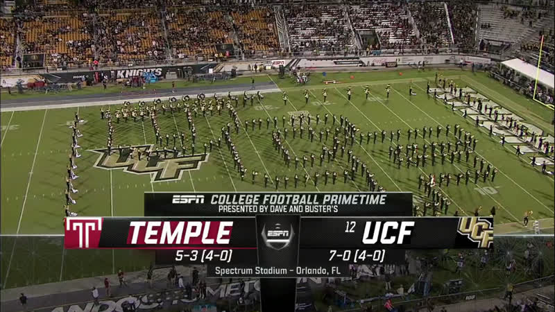 NCAAF 2018 / Week 10 / Temple Owls - (12) UCF Knights / 1H / EN