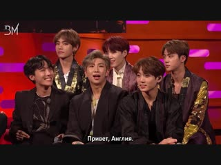 [RUS SUB][12.10.18] BTS meet Graham!! @ The Graham Norton Show