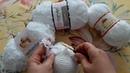Kartopu Anakuzusu, Himalaya Toffe Baby, YarnArt Happy ile kuzu örülmesi (How to crochet fuzzy yarn?)