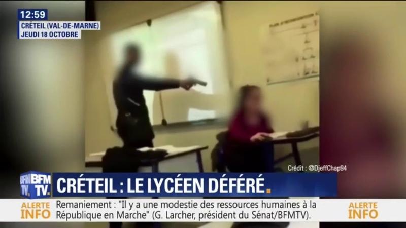 Tu me mets présent À Créteil un lycéen menace sa prof avec une arme