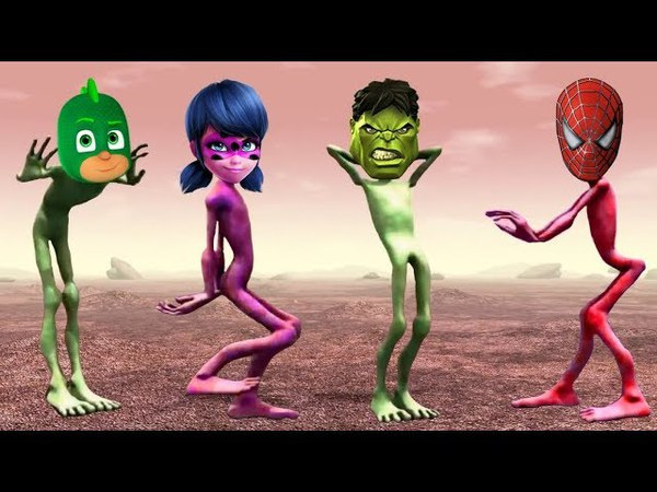 Learn Colors with PJ Masks Funny Alien Dance Song for Kids