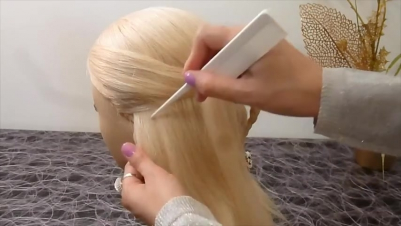 СЕРДЦЕ из волос.Причёска для средних и длинных волос.Плетение кос_волос.Причёски