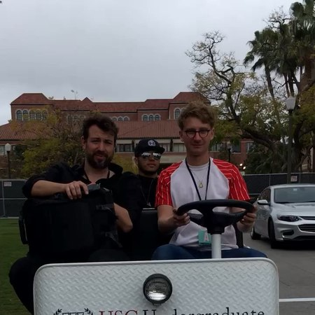 Glass animals on Instagram tearing up the usc campus sorry about the lamp ""