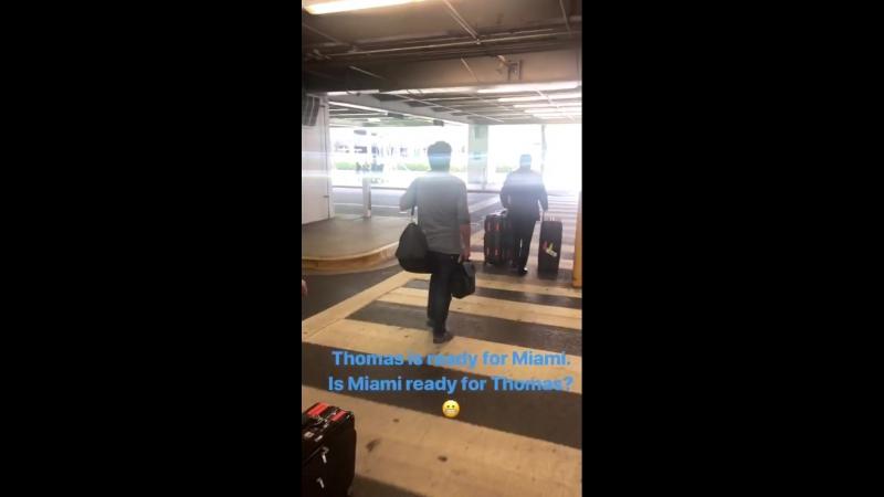 Команда Томаса Андерса прибыла в Майами, 14.08.2018