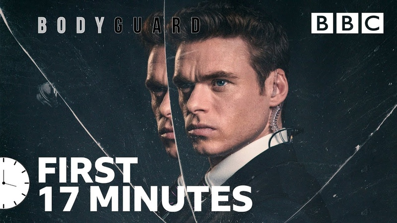 Bodyguard's thrilling opening stand-off   Richard Madden - BBC