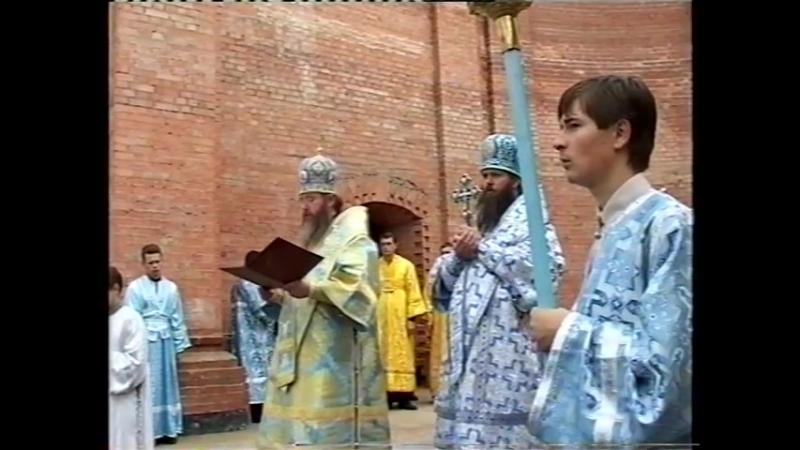 Архиерейская служба у строящегося Свято-Успенского кафедрального собора в г. Витебске