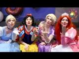 Принцессы Disney на Праздник . Крио Азот , Мыльное шоу, Кэнди бар, шоколадный фонтан