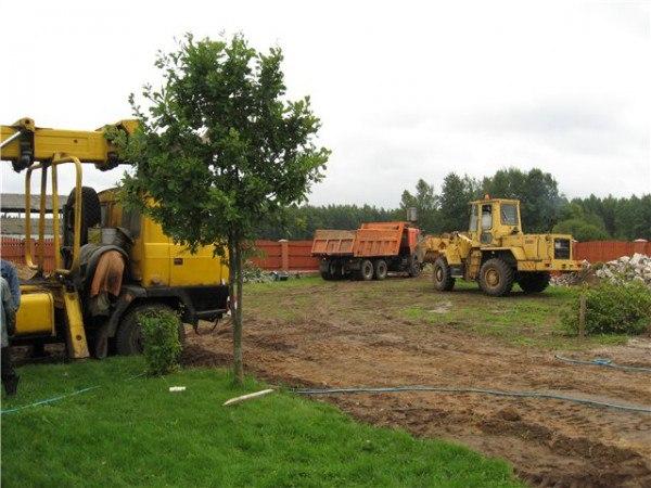 Подготовка участка к строительству дома