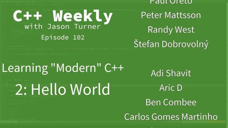 C Weekly - Ep 102 - Learning Modern C - 2: Hello World