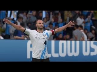 FIFA18 Потрясающий гол Иньесты в последней игре за WFCFC