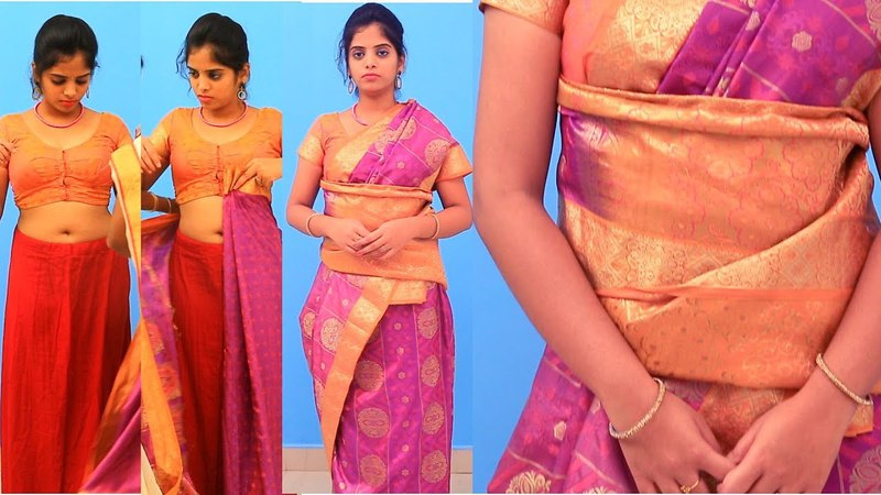 How To Wear Saree || Sari Easily, Quickly and Perfectly || Fast Easy Saree Wearing tutorial