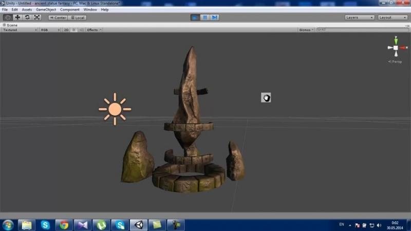 Ancient statue fantasy_HIGH.mp4