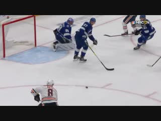 Andrei Vasilevskiy uses his head to rob Ty Rattie