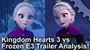 [4K] Kingdom Hearts 3 vs Frozen! Graphics Comparison E3 2018 Trailer Analysis