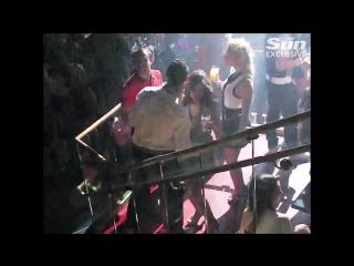 Криштиану с Кэтрин Майоргой в ночном клубе в Лас-Вегасе в 2009 году