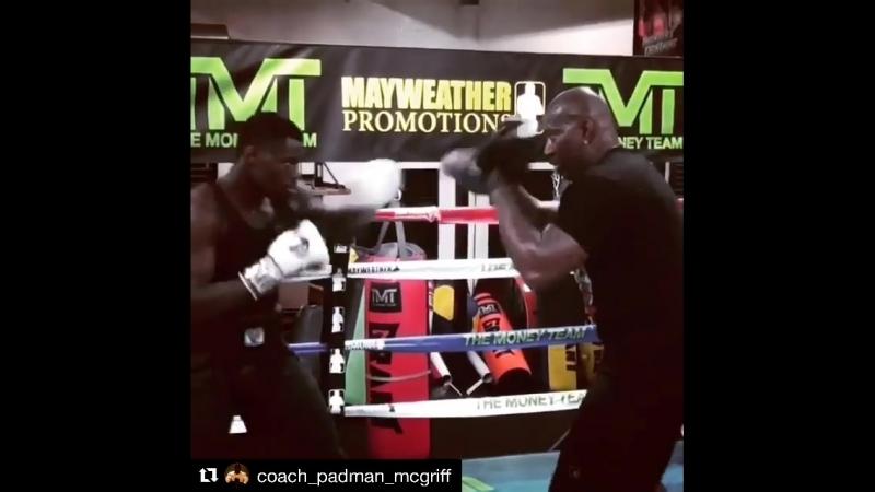 Тренировка Эндрю Табити перед стартом Всемирной боксёрской суперсерии