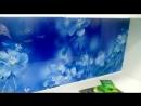 Глянец с эффектом мерцания 2800*610*6 Лен Голубой