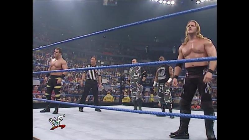 Dudley Boyz Vs Chris Benoit Chris Jericho - Tag Team Table Match - SmackDown 19.04.2001