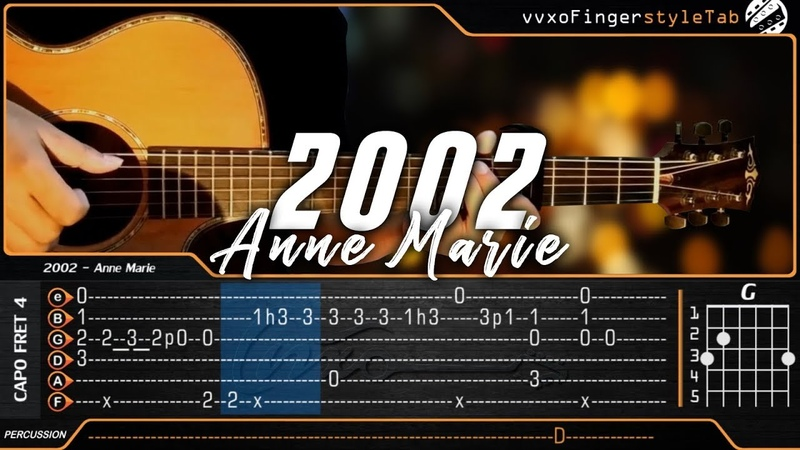 Anne Marie - 2002 - Cover (Fingerstyle Guitar Cover) TABS on Screen