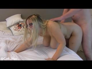 Codi vore -  big tits bounce on huge cock creampie [1080p]