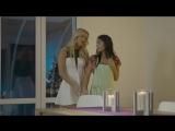 Older lesbian _ younger lesbian kissing