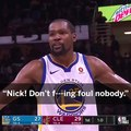 Warriors Talk on Instagram With a second left in the 1st quarter KD had some advice for Nick Young.