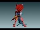 Catty Warrior/ 3D-skulpting