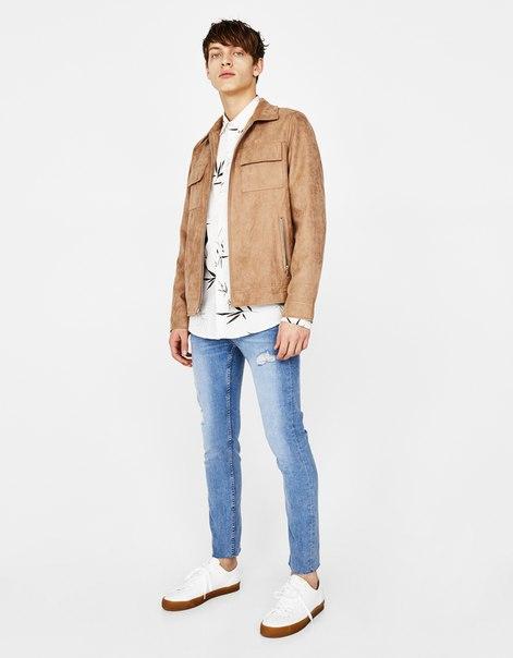 Куртка из искусственной замши